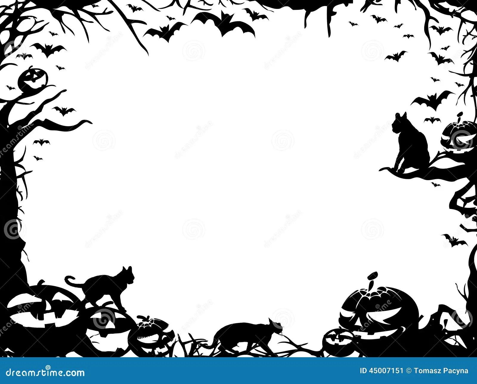 Halloween Frame Border Isolated On White Stock
