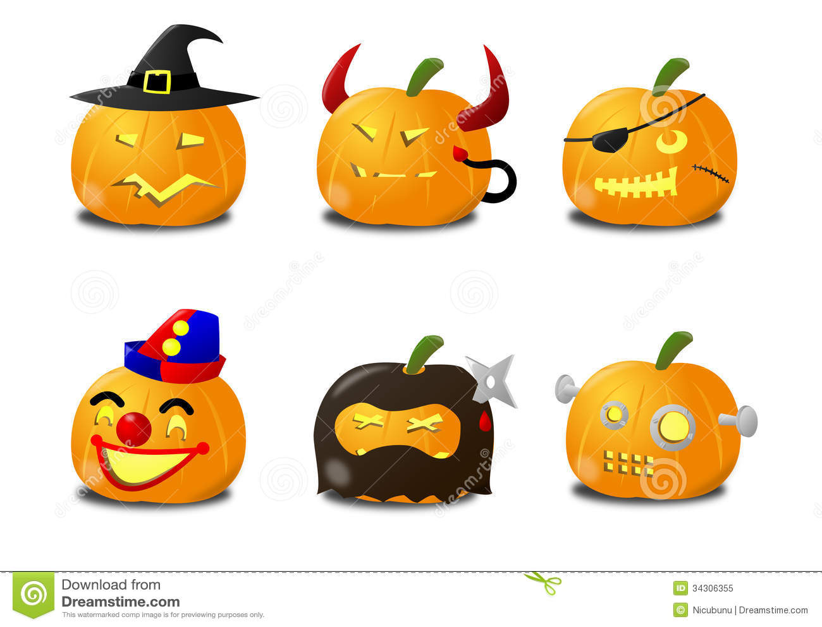 Ninja Smiley Face Icons Cartoon Vector