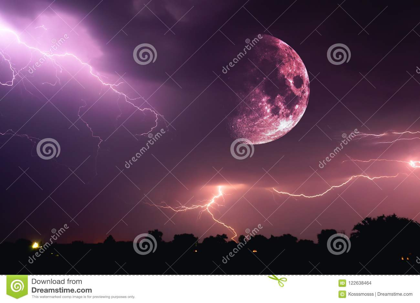 halloween night sky with