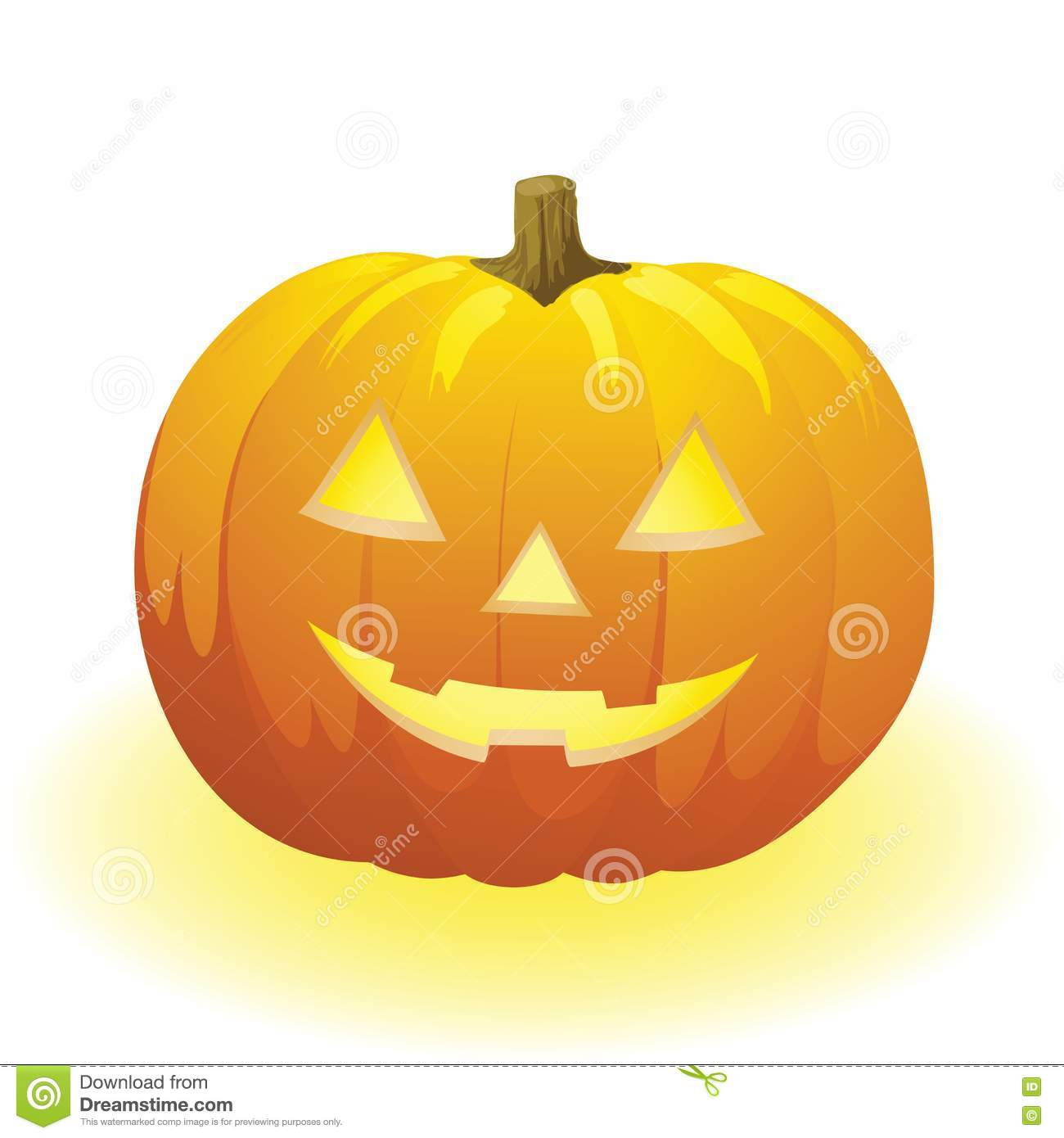 Halloween Pumpkin Stock Vector Illustration Of Face