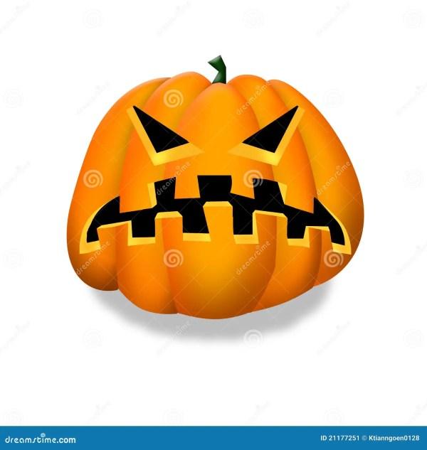 Halloween Pumpkin Clipart. Stock Illustration