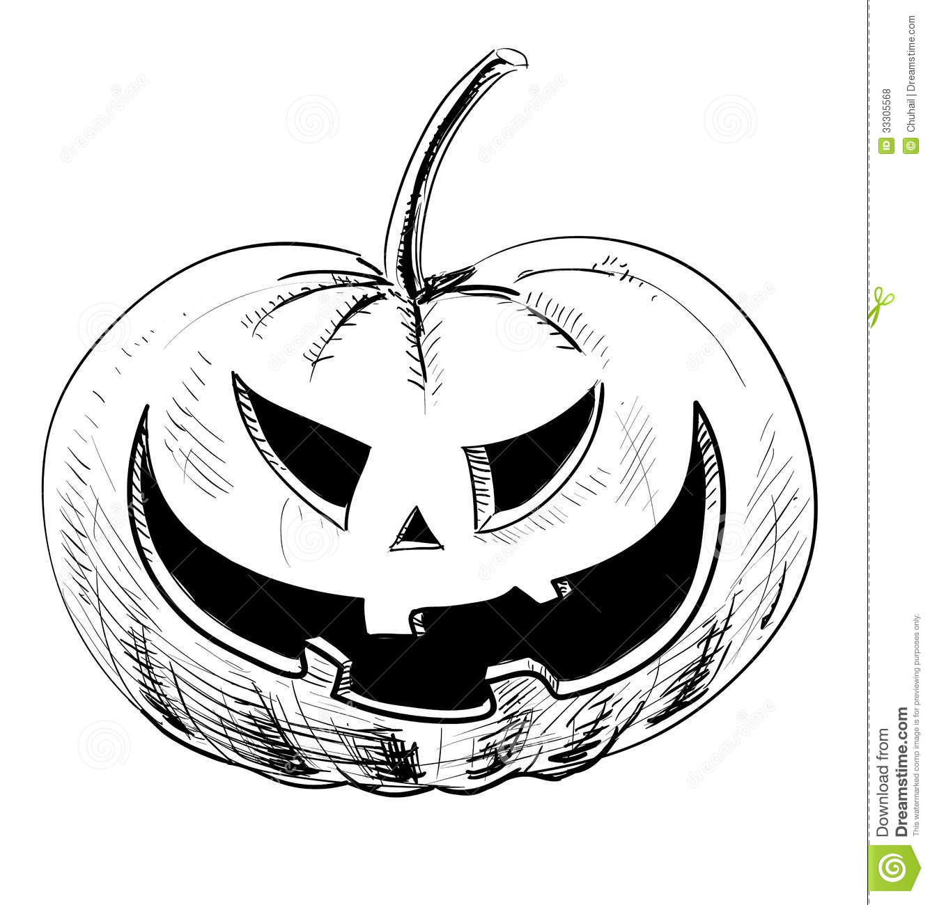 Halloween Pumpkin With Evil Scary Smile Stock Vector