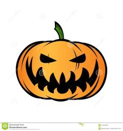 halloween pumpkin jack o lantern isolated on white vector illustration [ 1300 x 1390 Pixel ]