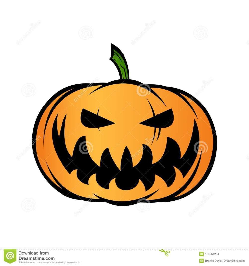 medium resolution of halloween pumpkin jack o lantern isolated on white vector illustration