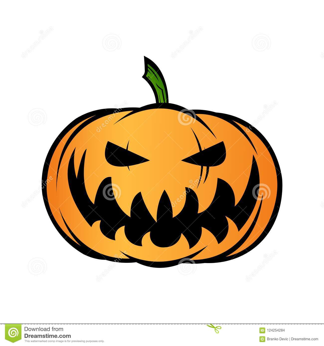 hight resolution of halloween pumpkin jack o lantern isolated on white vector illustration