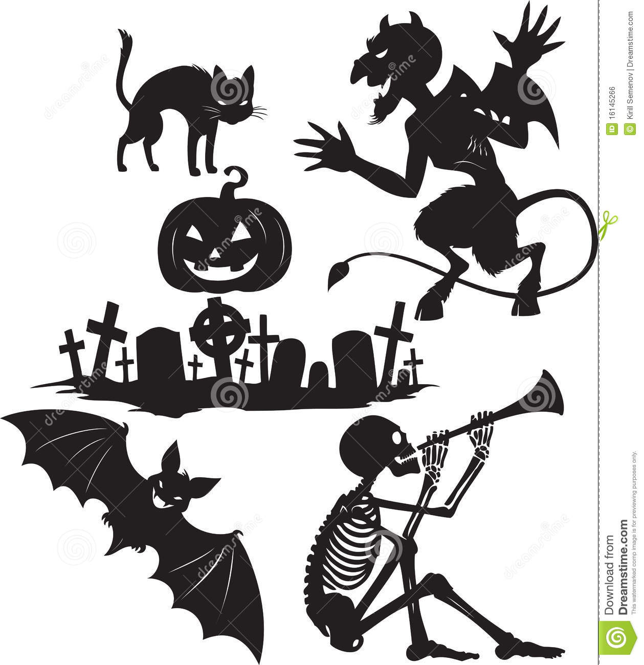 Halloween Shapes Royalty Free Stock Image