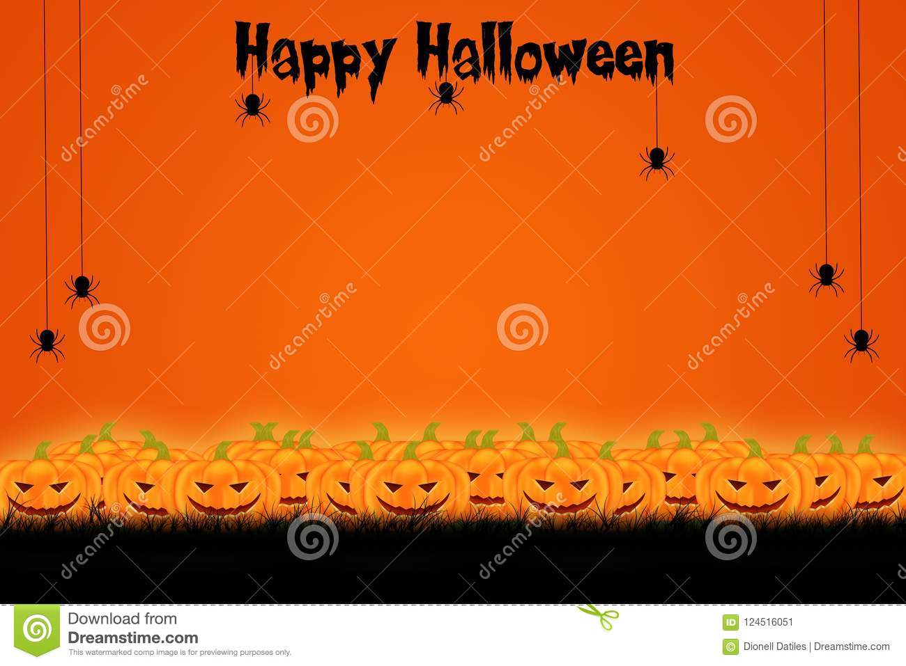 Download Halloween Template Design With Space For Text Or Message Stock  Illustration - Illustration Of Banner