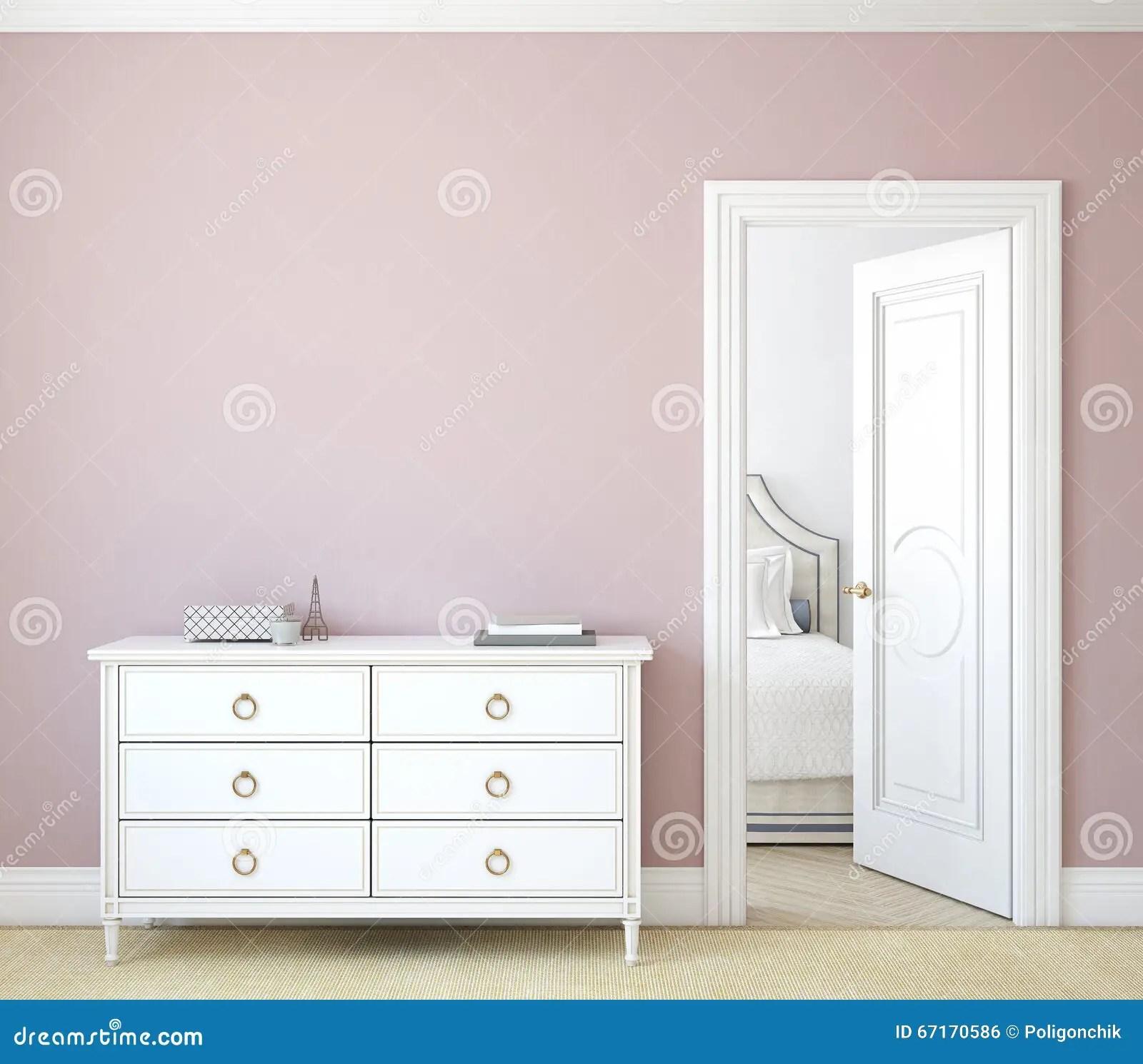 hallway 3d rendering stock