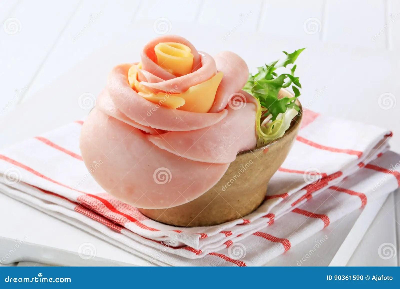 ham and cheese rose
