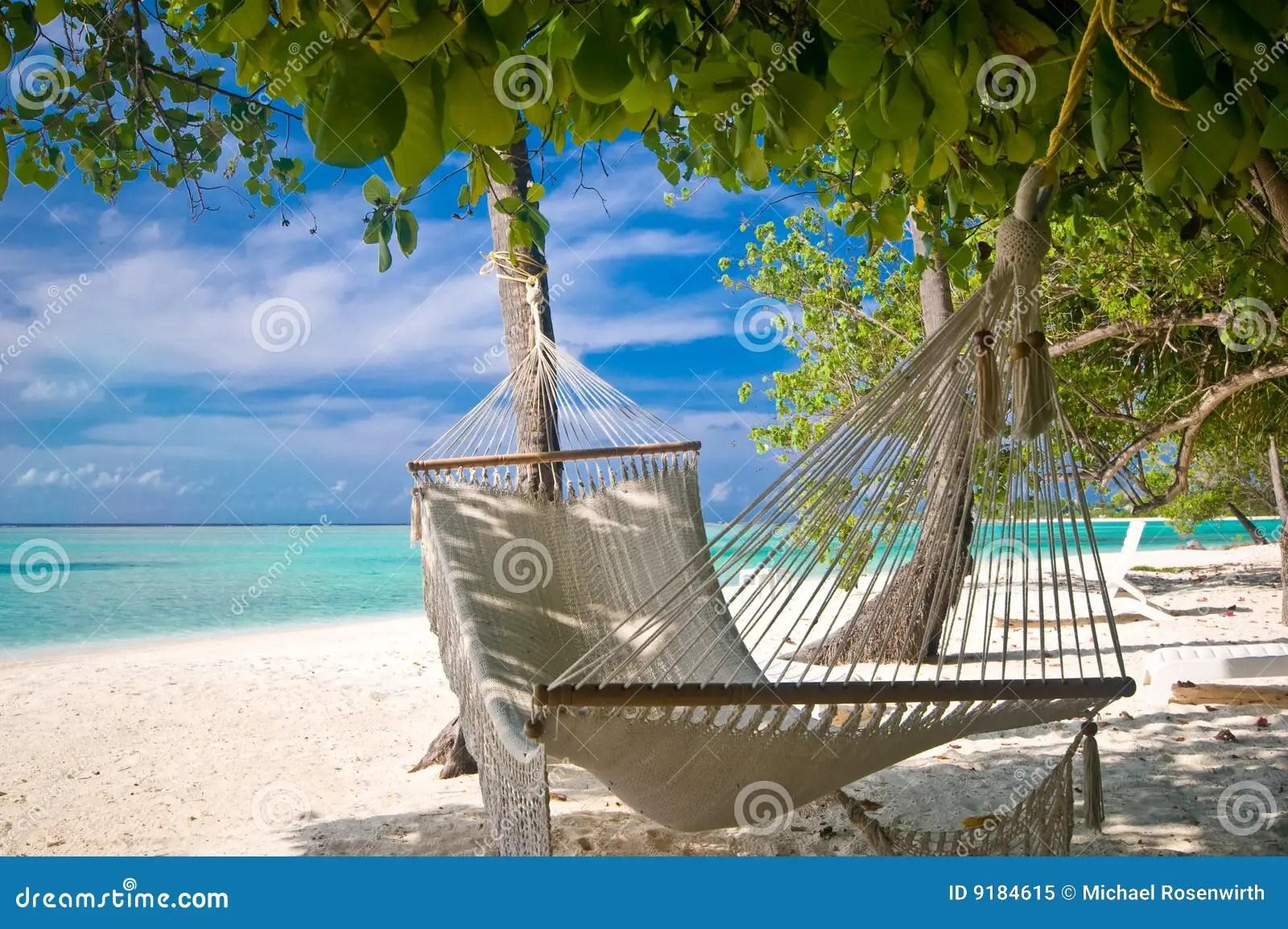Hamaca De La Playa Imagen De Archivo Imagen De Hamaca