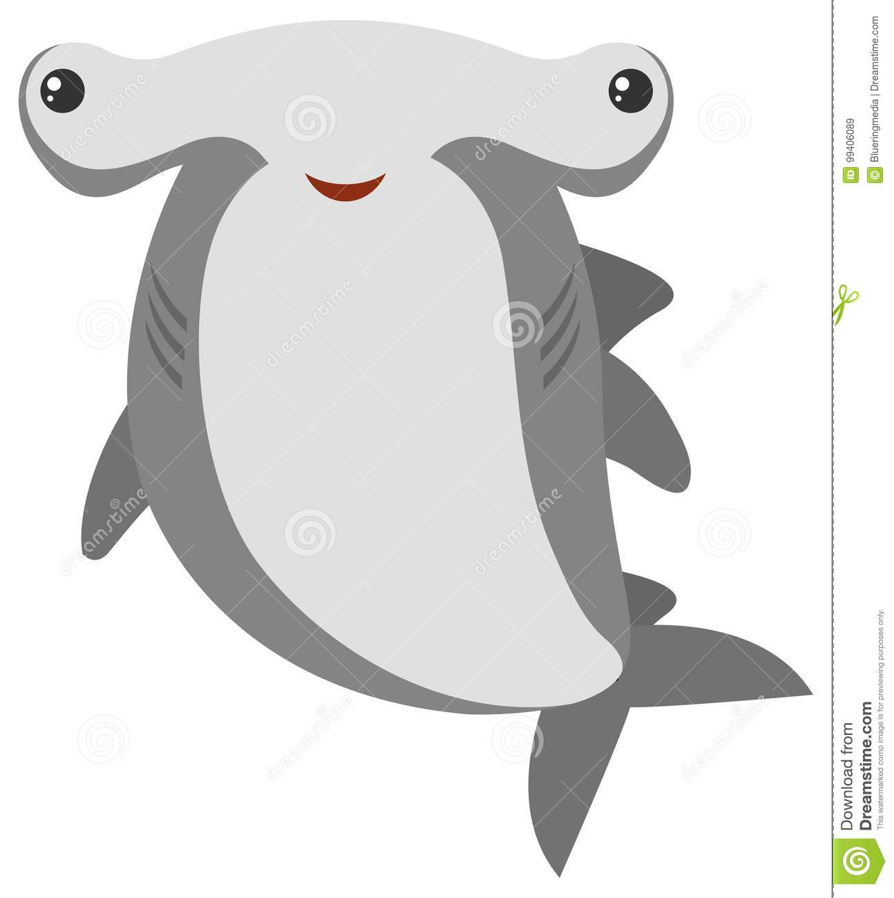 hight resolution of hammerhead shark with happy face