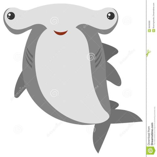 small resolution of hammerhead shark with happy face