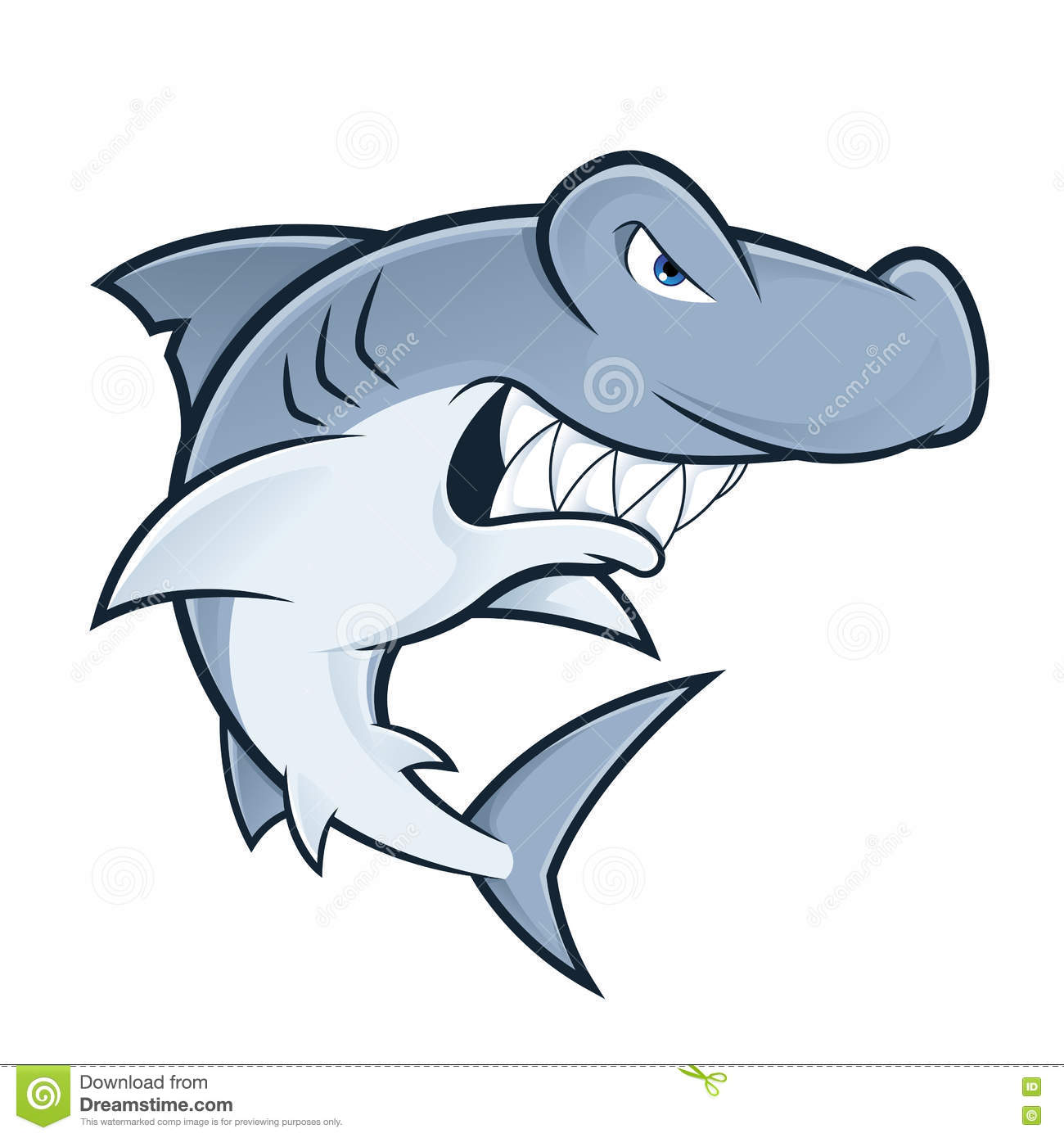 hight resolution of clipart picture of a hammerhead shark cartoon mascot character