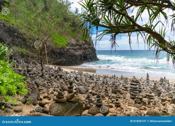 Hanakapiai Beach - Kauai Stock Of Hawaii 81859147