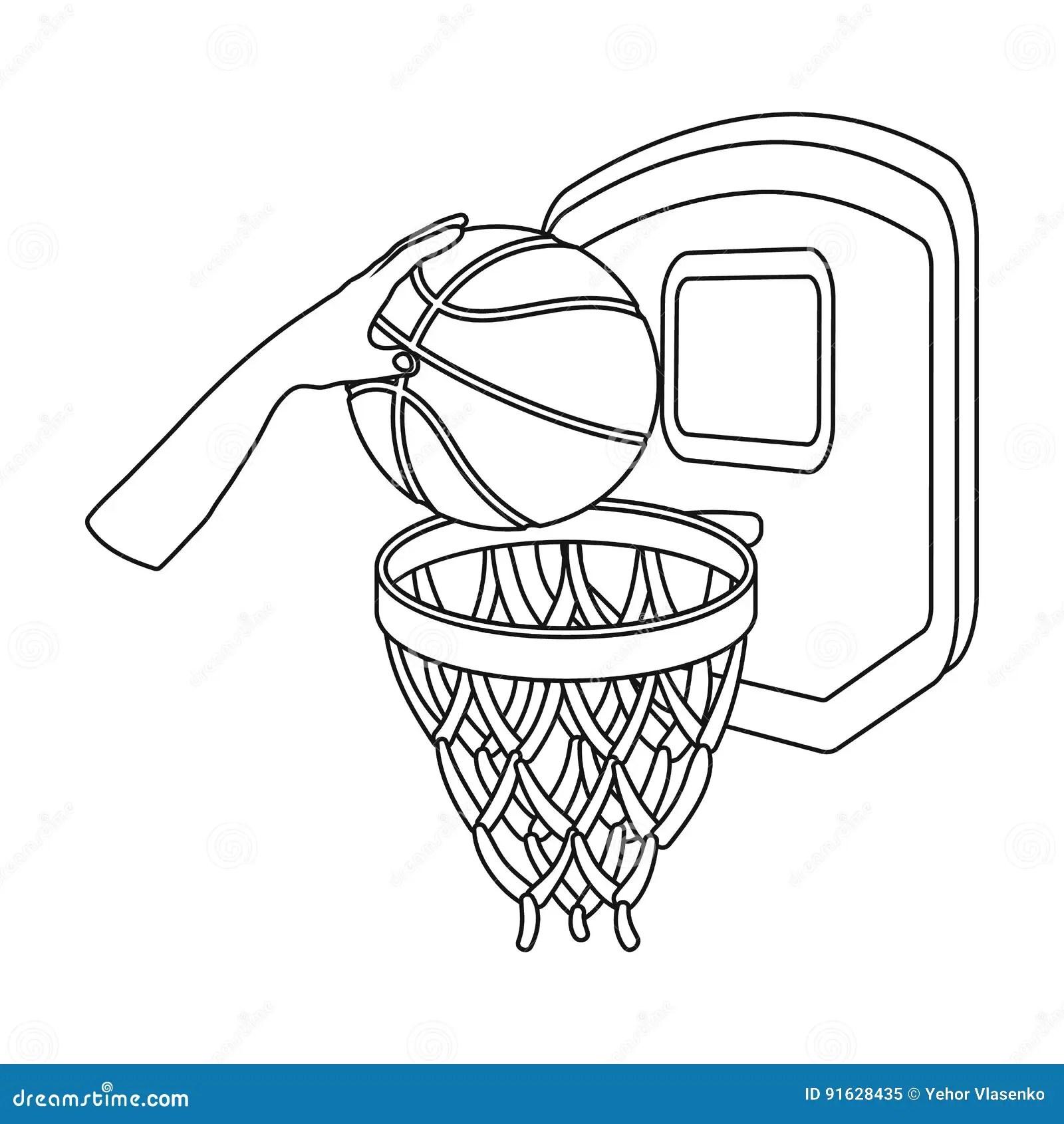 Basketball Hoop Sport Basket Vector Illustration Vector