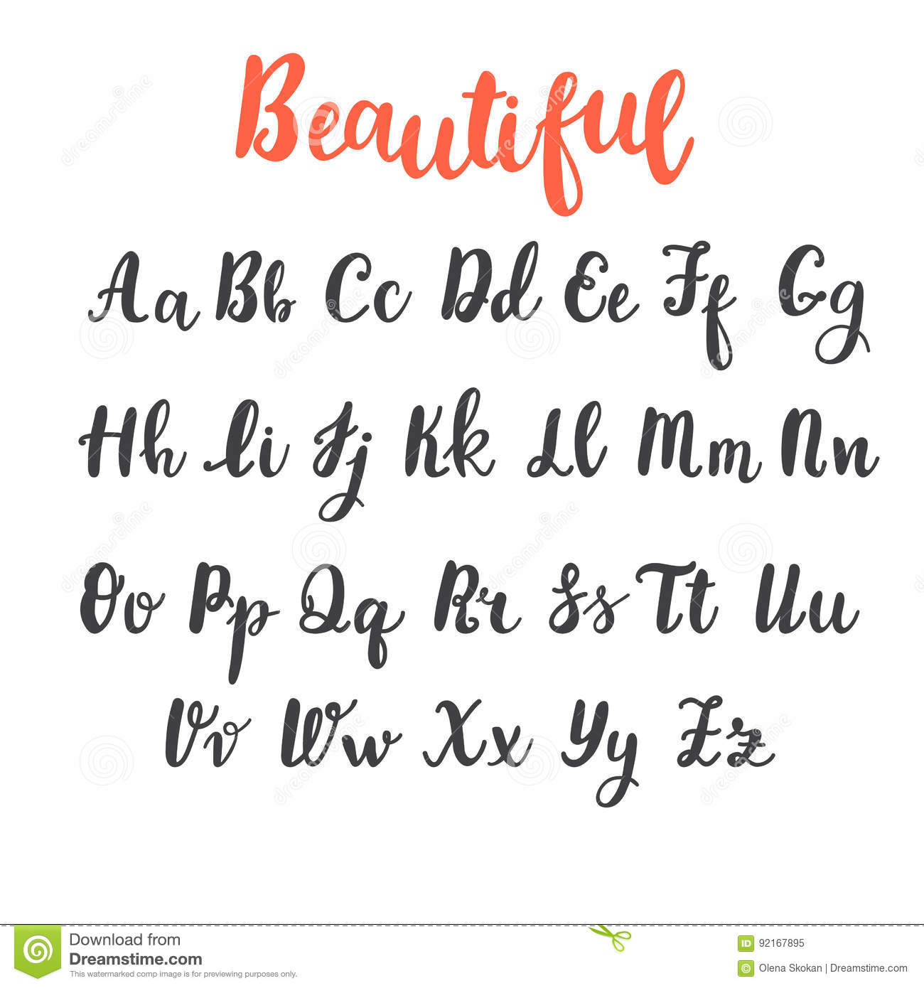 Hand Draw Alphabet Uppercase And Lowercase Letters