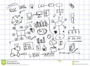Hand Draw Sketch, Finance And Accounting Symbol Stock Illustration  Image: 37988309