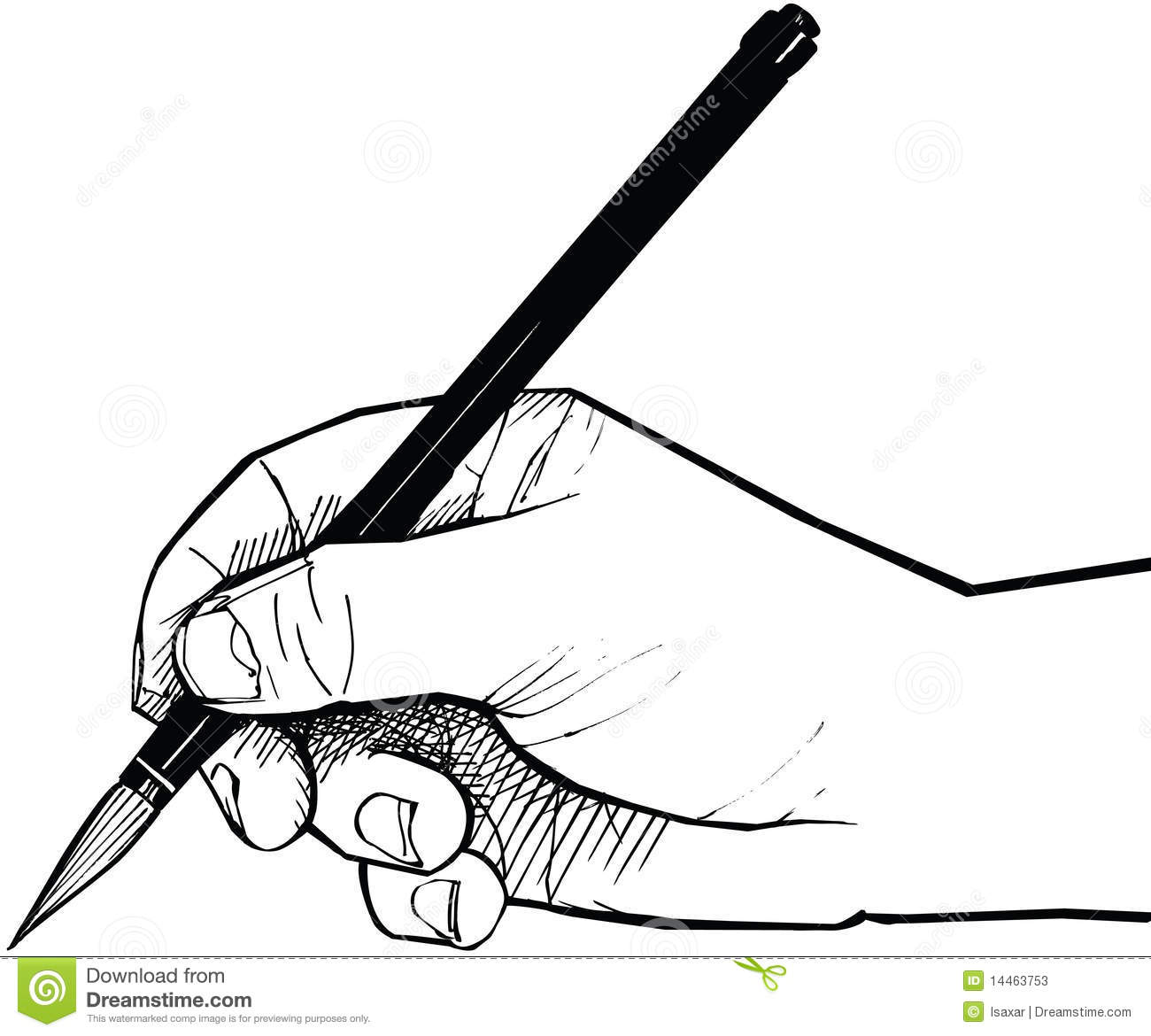 Hand Drawing With A Chinese Brush Stock Vector