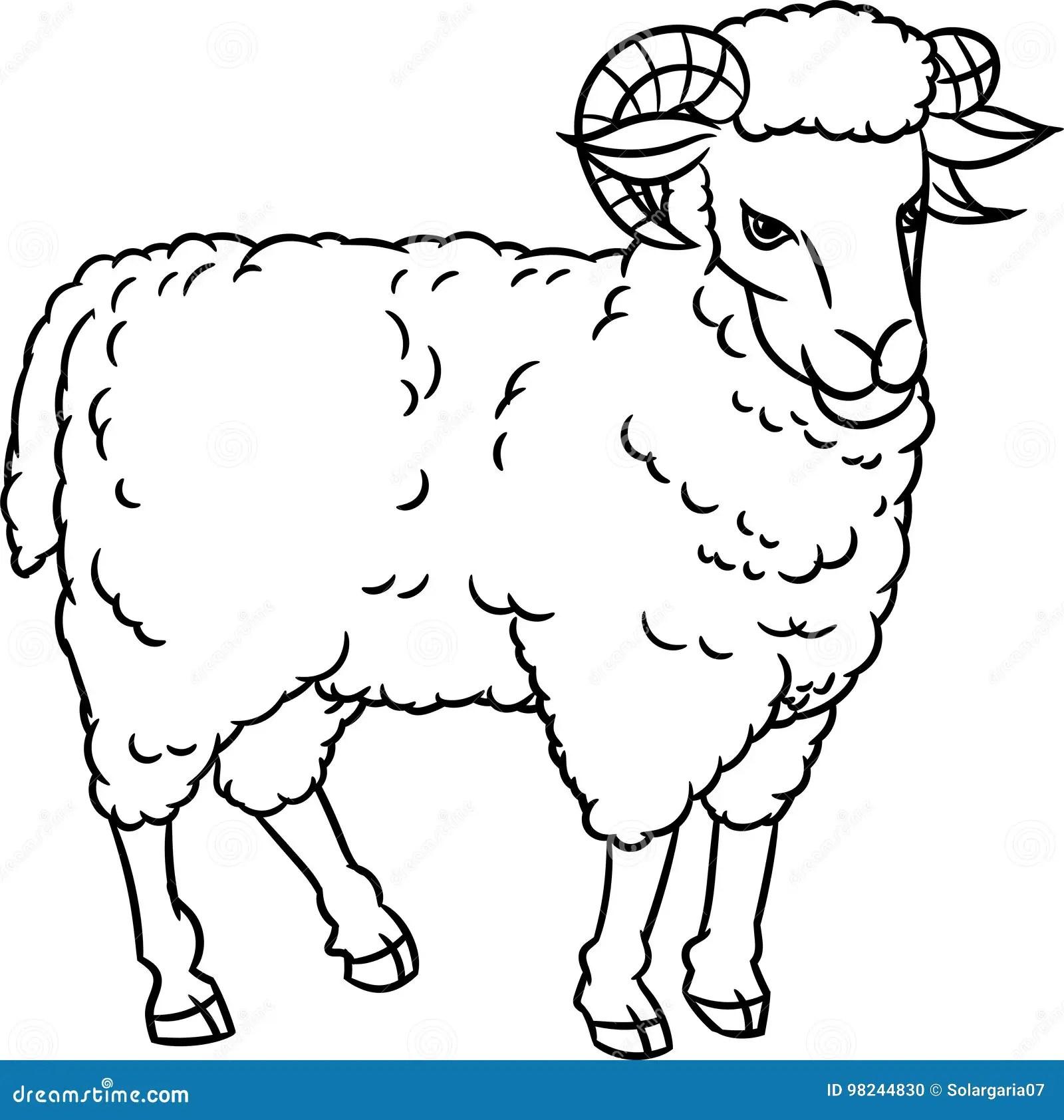 Hand Drawing Sheep-Vector Illustration Stock Vector