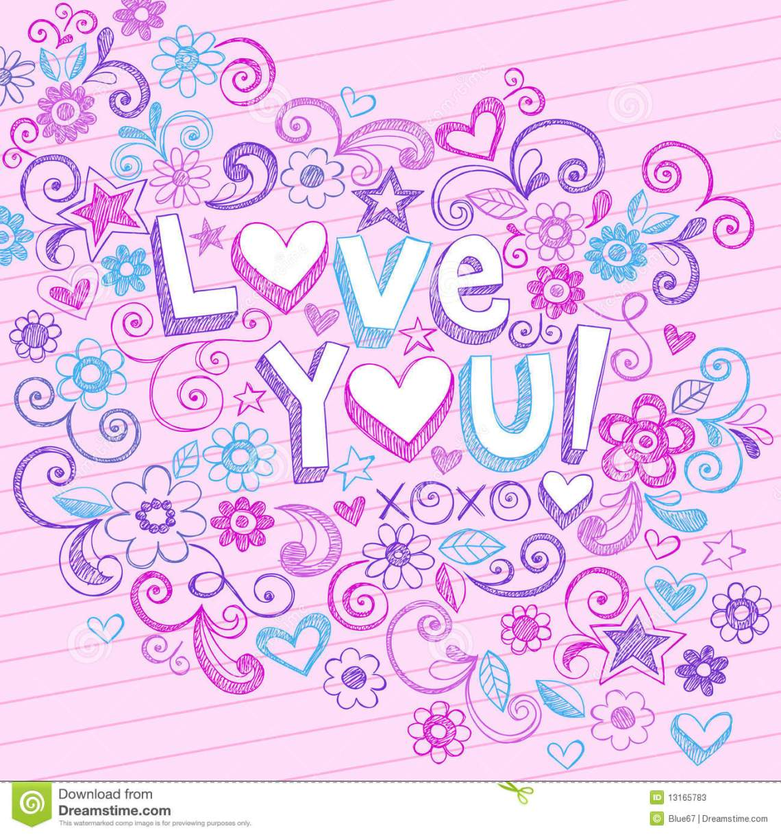 Download Hand-Drawn Abstract Sketchy Love You Doodles Stock Photos ...