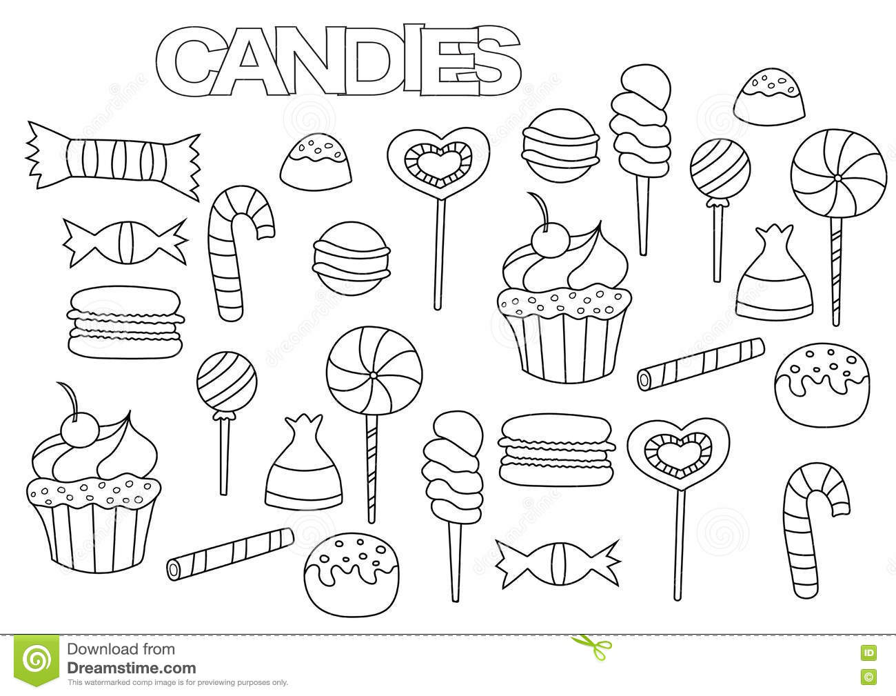 Licorice Coloring Pages Sketch Coloring Page