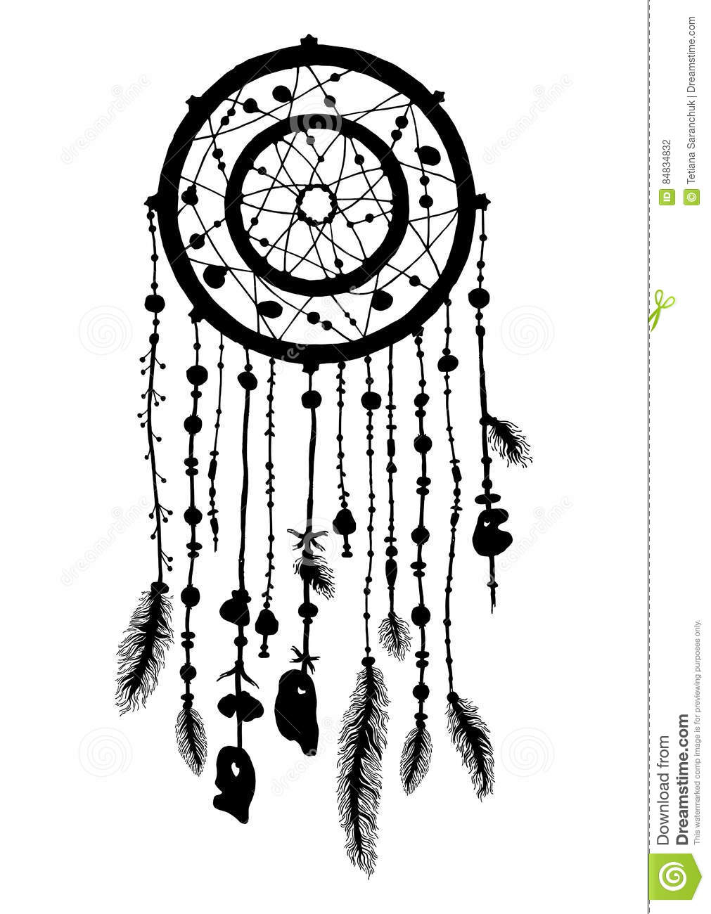 Coloring Dream Catcher Book Anti Stress Sketch Coloring Page