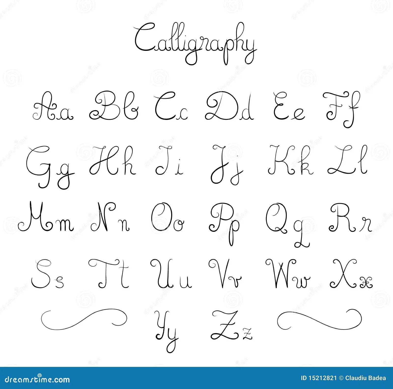 Hand Drawn Font Stock Vector Illustration Of Elegant