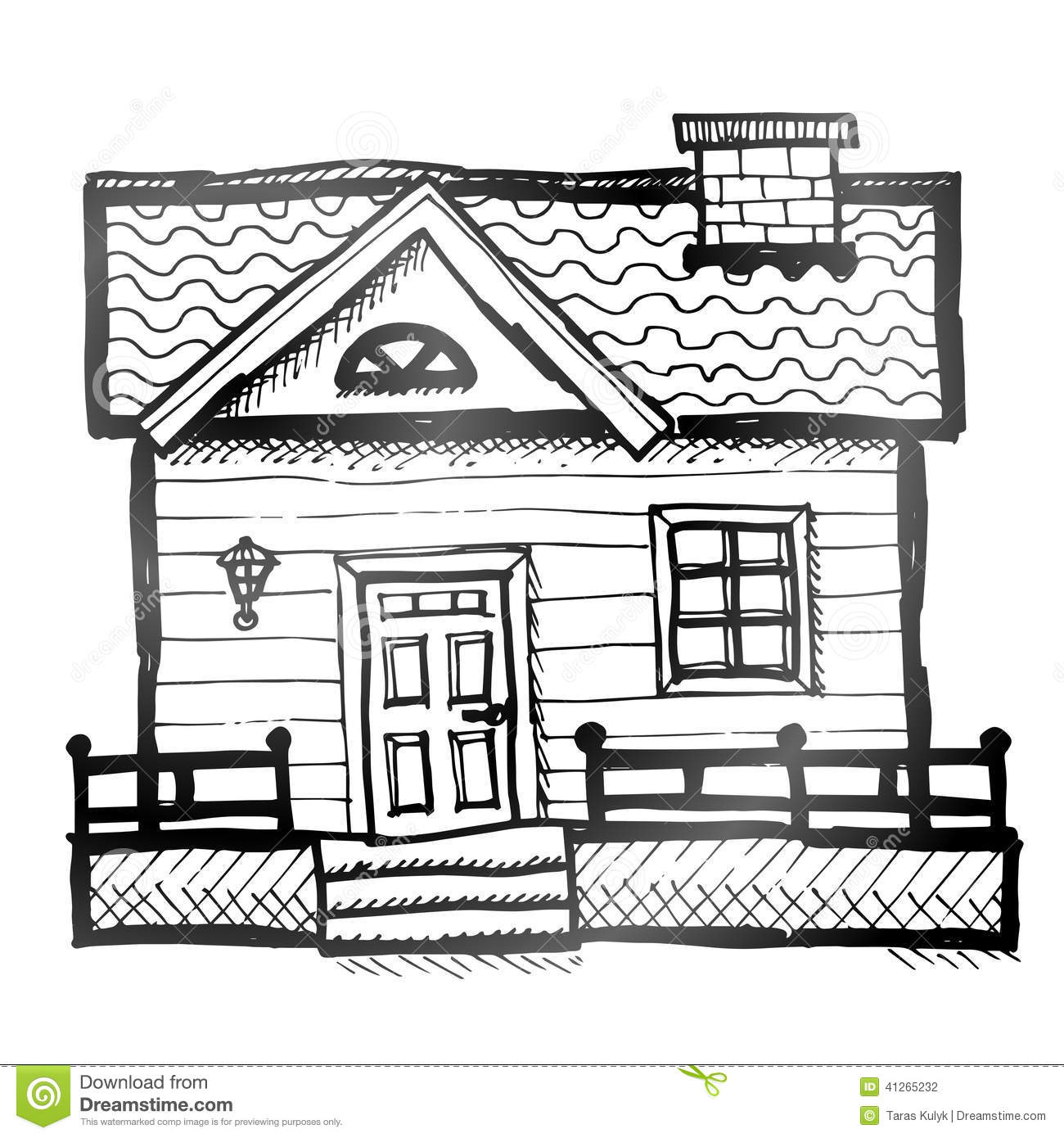 Hand Drawn House Stock Vector Illustration Of House