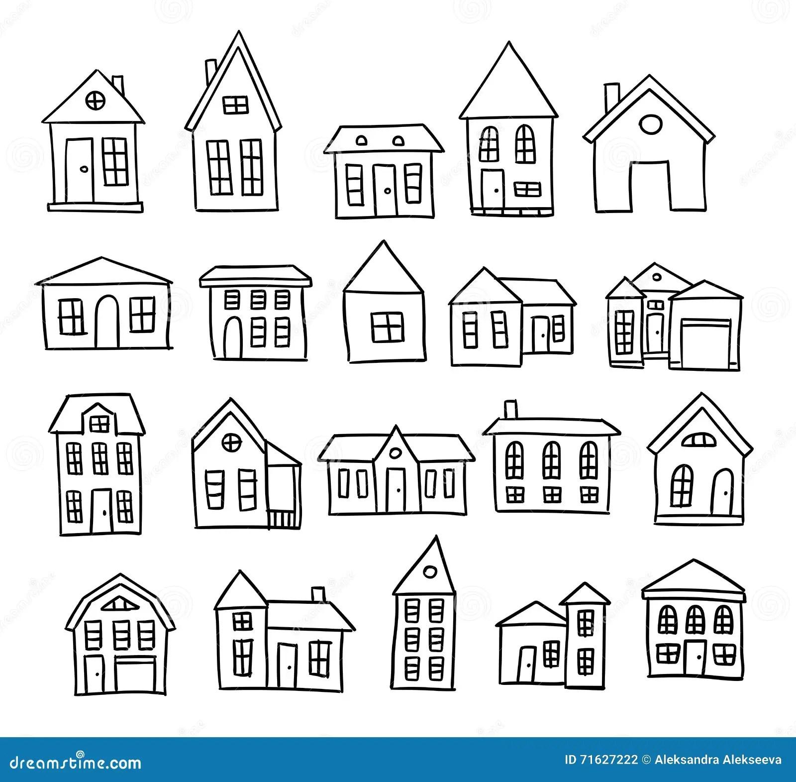 Hand Drawn Vector House Cartoon Vector