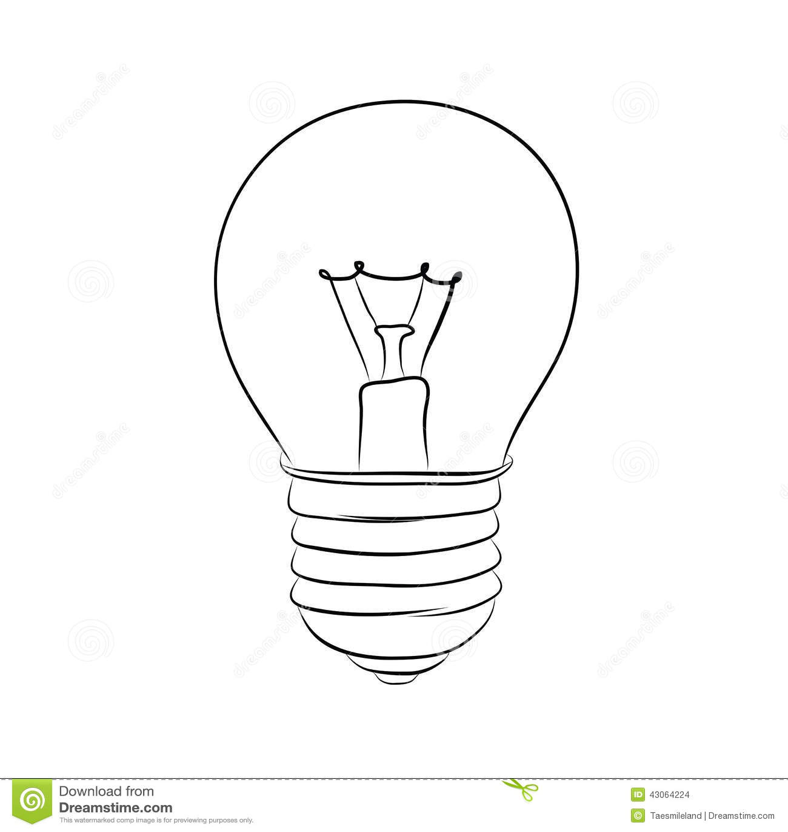 Hand Drawn Lightbulb Stock Vector Illustration Of Drawing