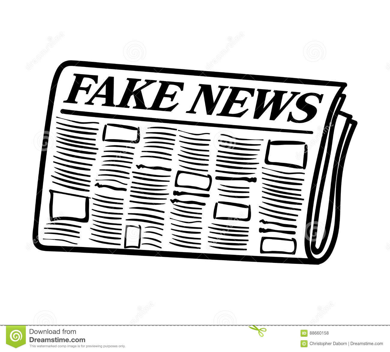 Fake News Newspaper Vector Graphic Stock Vector