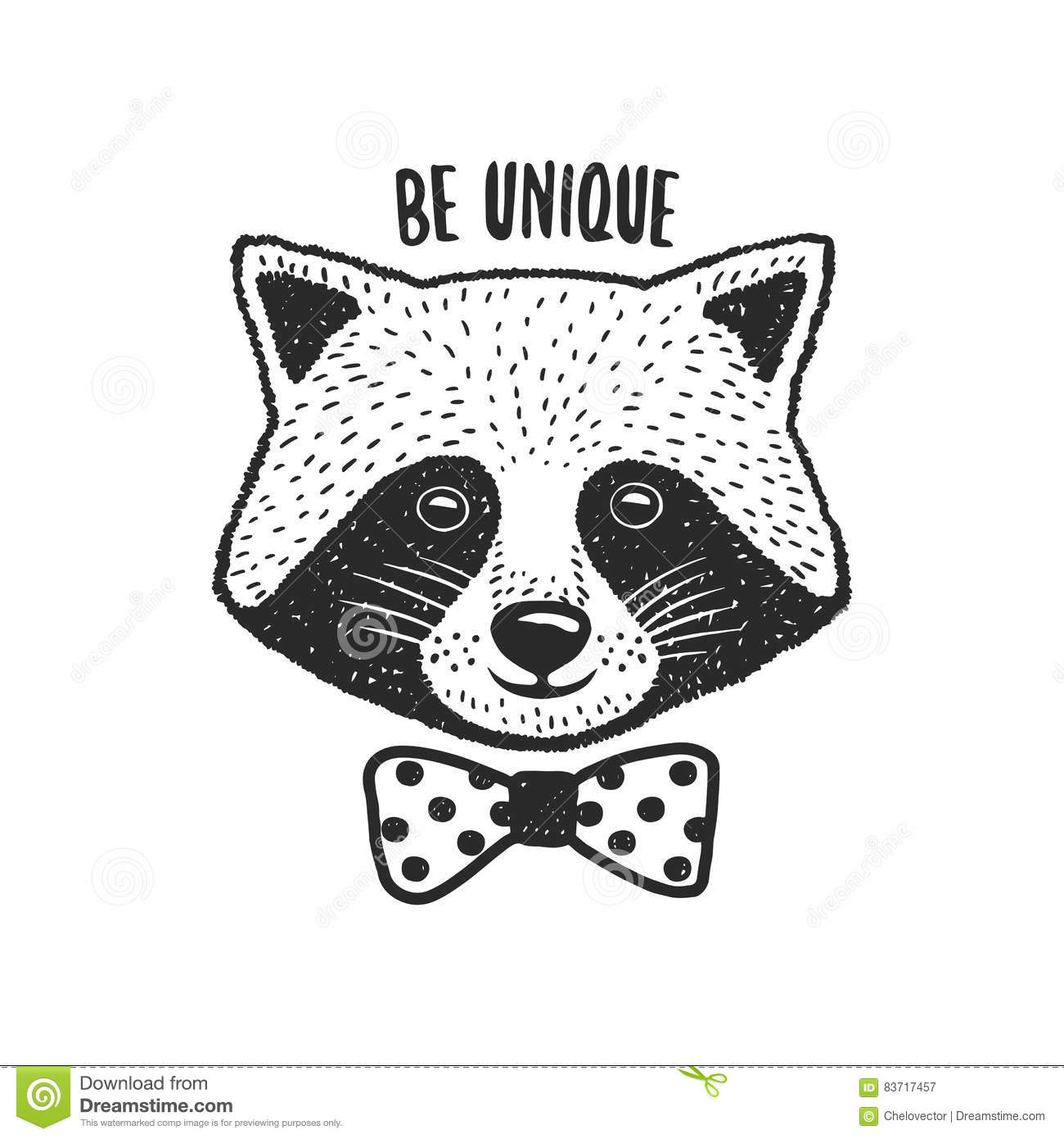 Cute Raccoon Icon Sticker Head Raccoon Vector