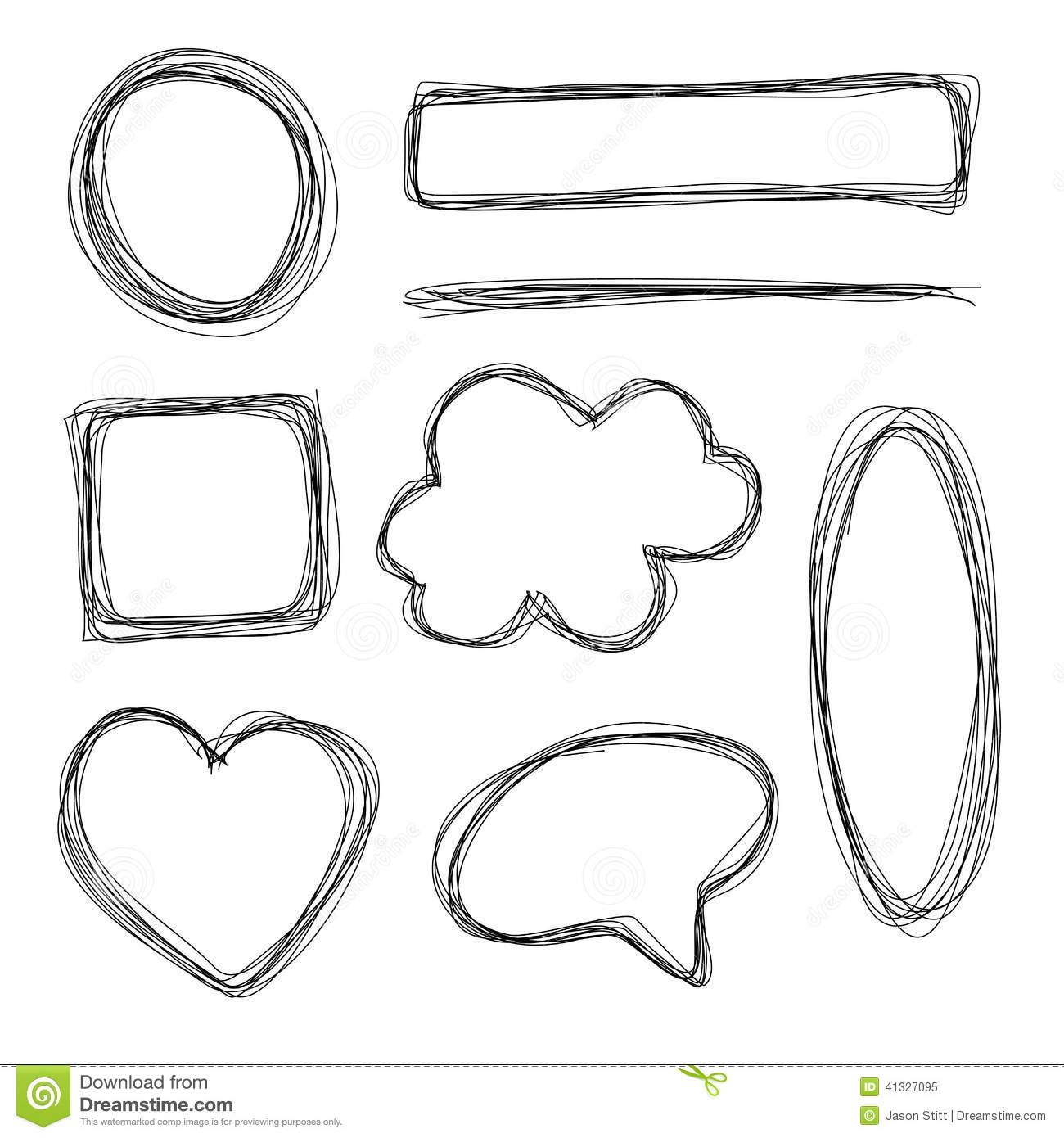 Hand Drawn Shapes Stock Vector