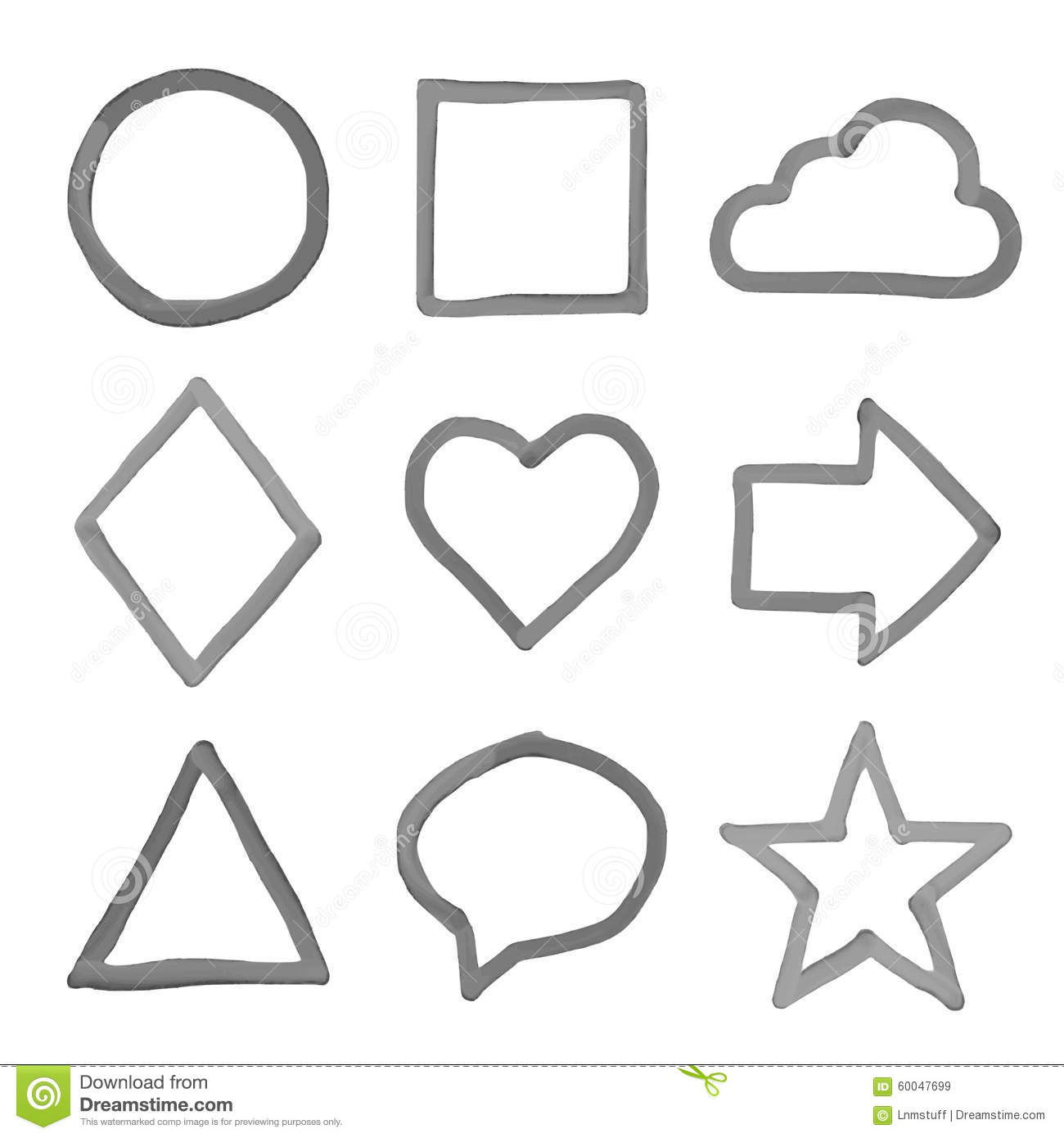 Hand Drawn Shapes Stock Vector Illustration Of Graphic