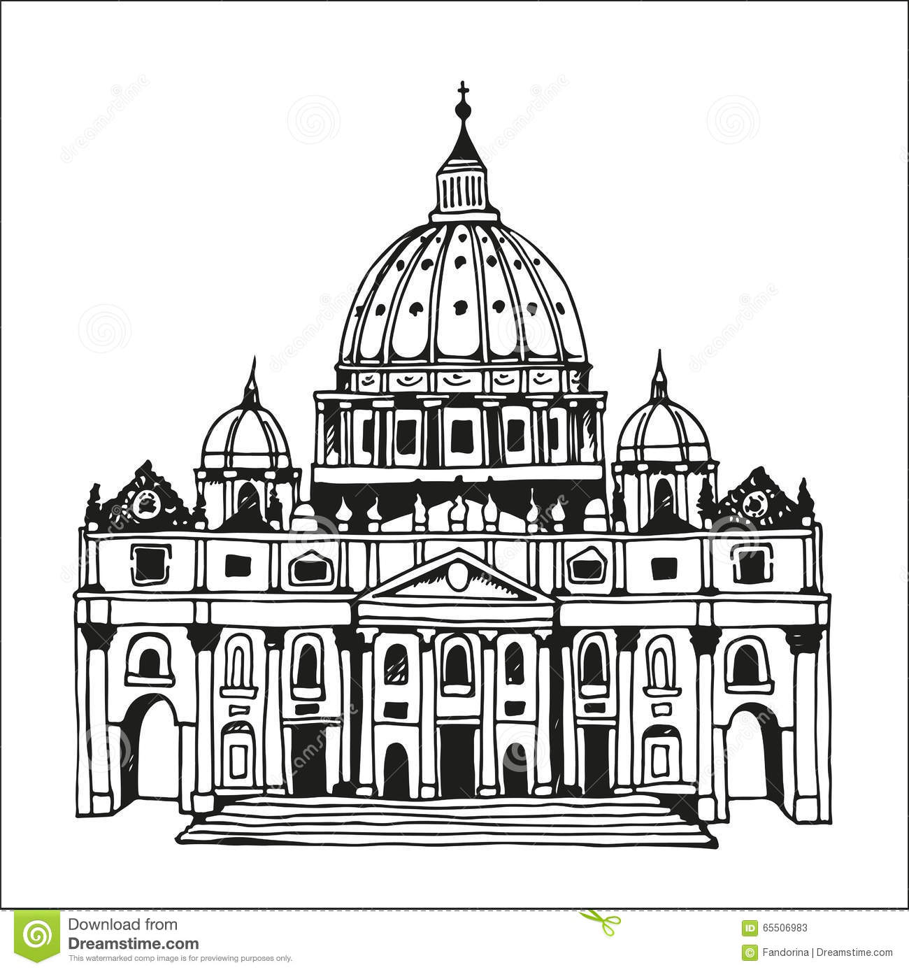 The Sketch Of Basilica And Expiatory Church Of The Holy