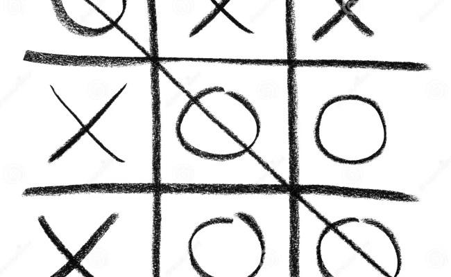 Hand Drawn Tic Tac Toe Game Stock Image Image 6284361