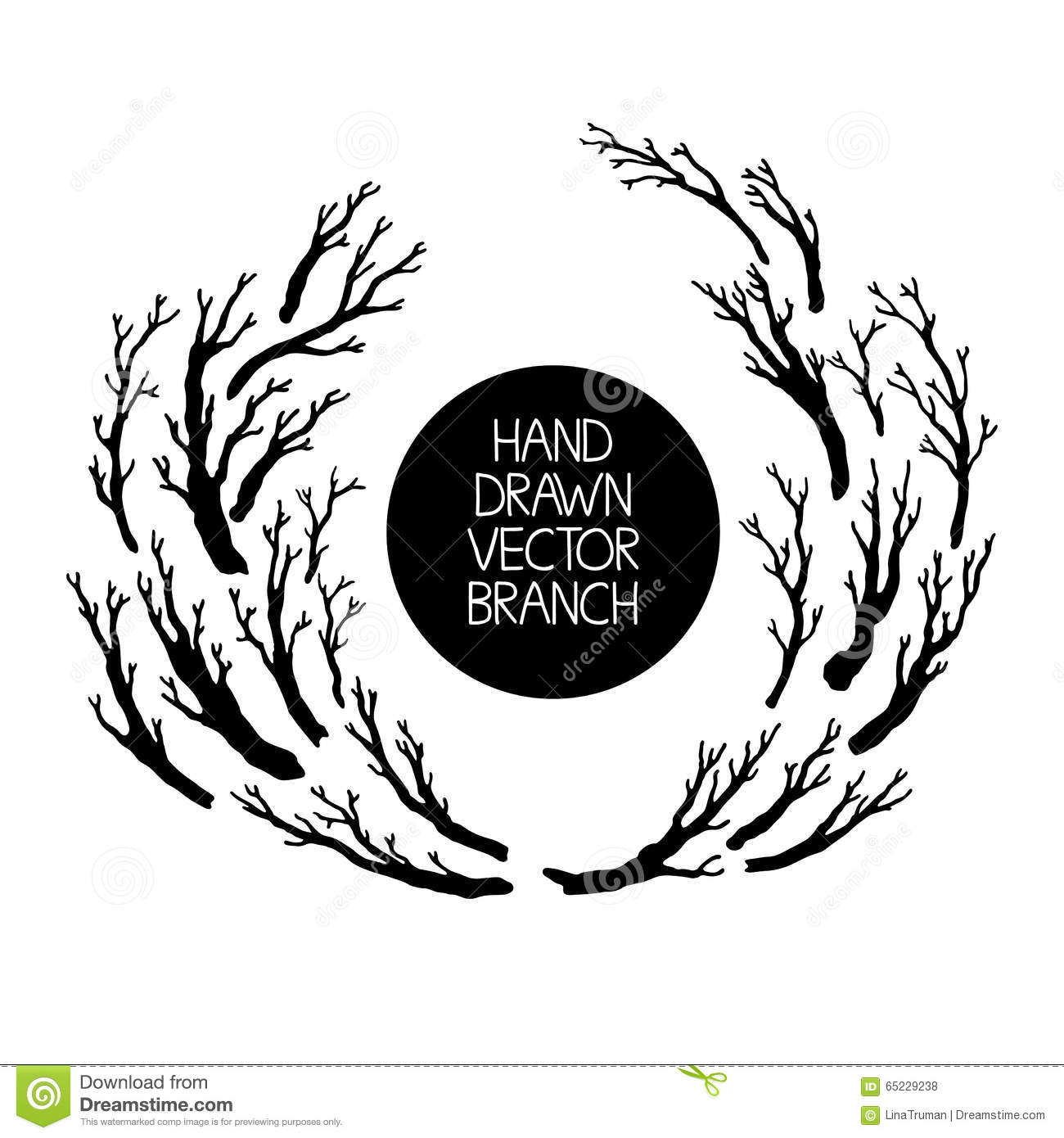 Nature Design Tree With Branches Icon Vector Graphic