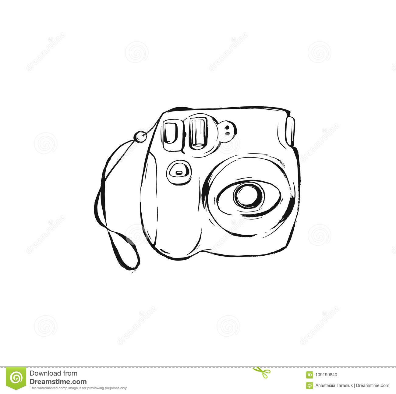 Hand Drawn Vector Abstract Ink Drawing Graphic Sketch