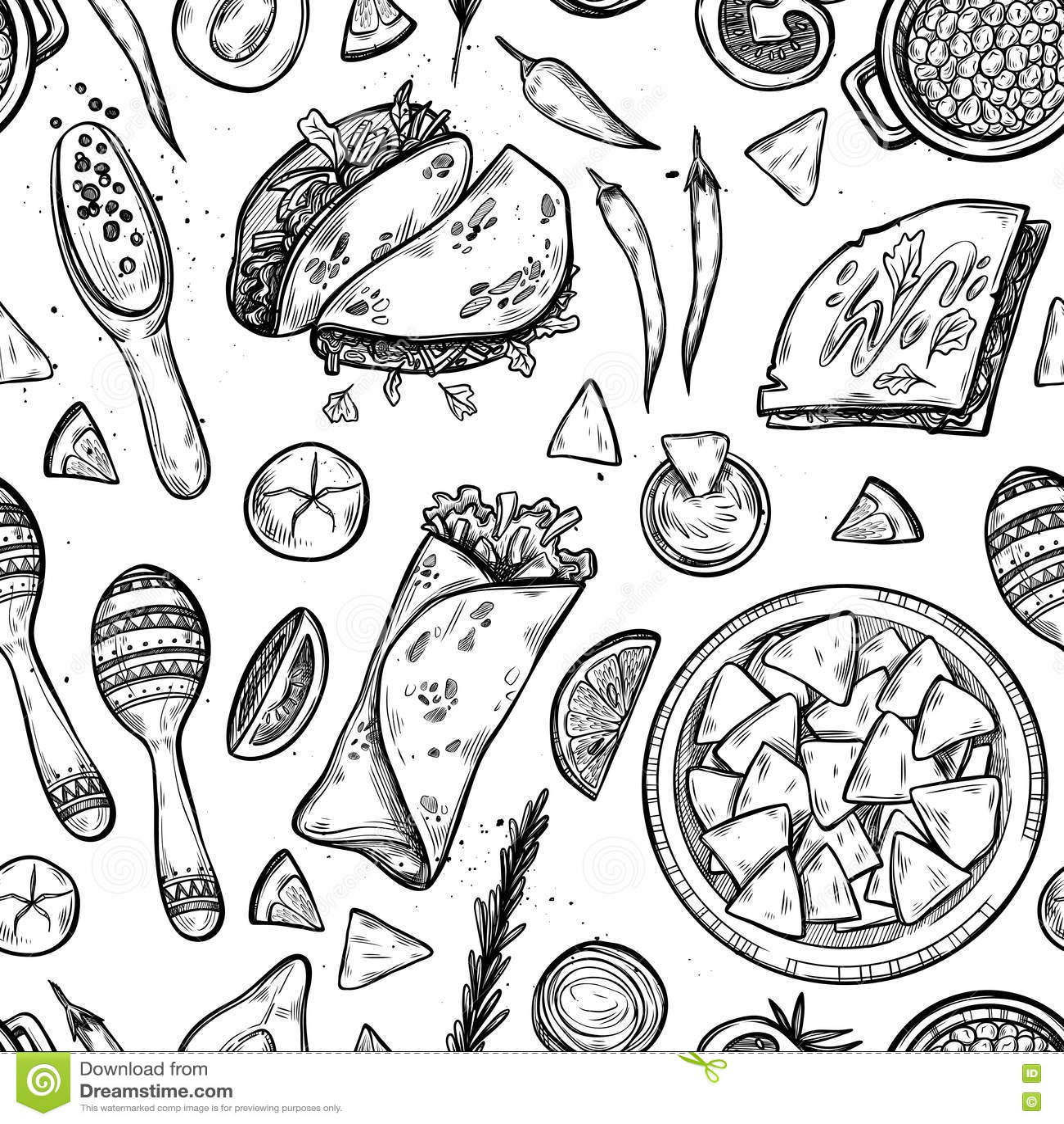 Hand Drawn Vector Background