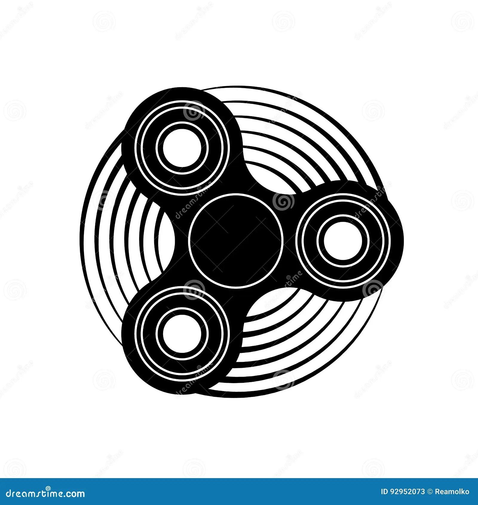 Hand Fidget Spinner Toy Icon