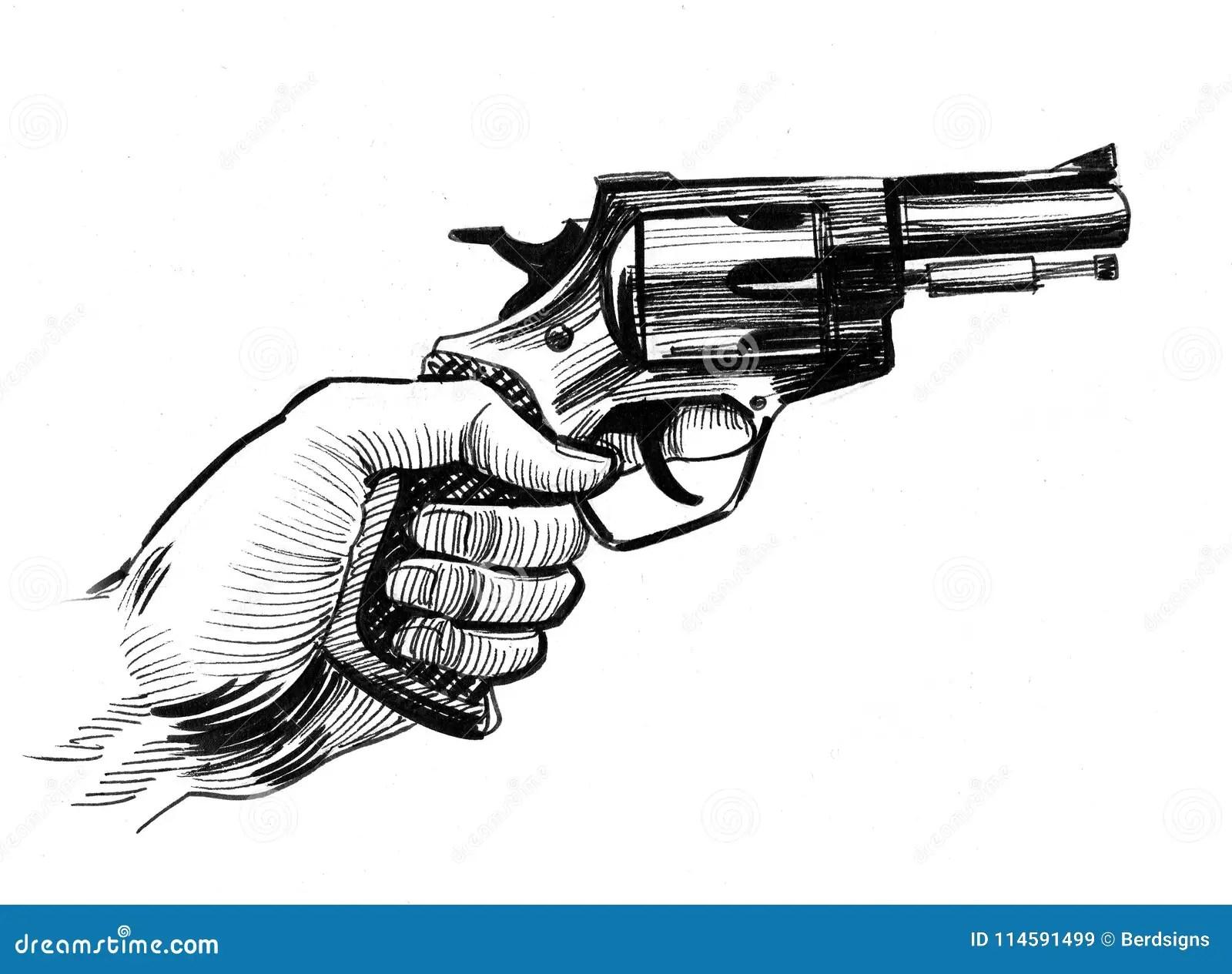 Hand And Gun Stock Illustration Illustration Of Shortgun