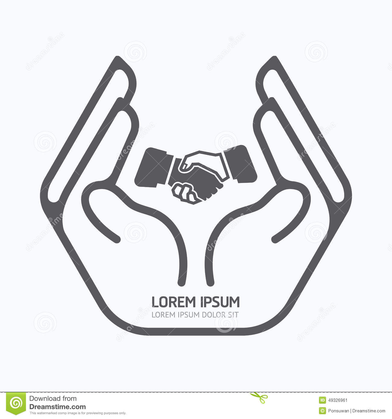 Hand Holding Business Logo Design Safety Care Concept