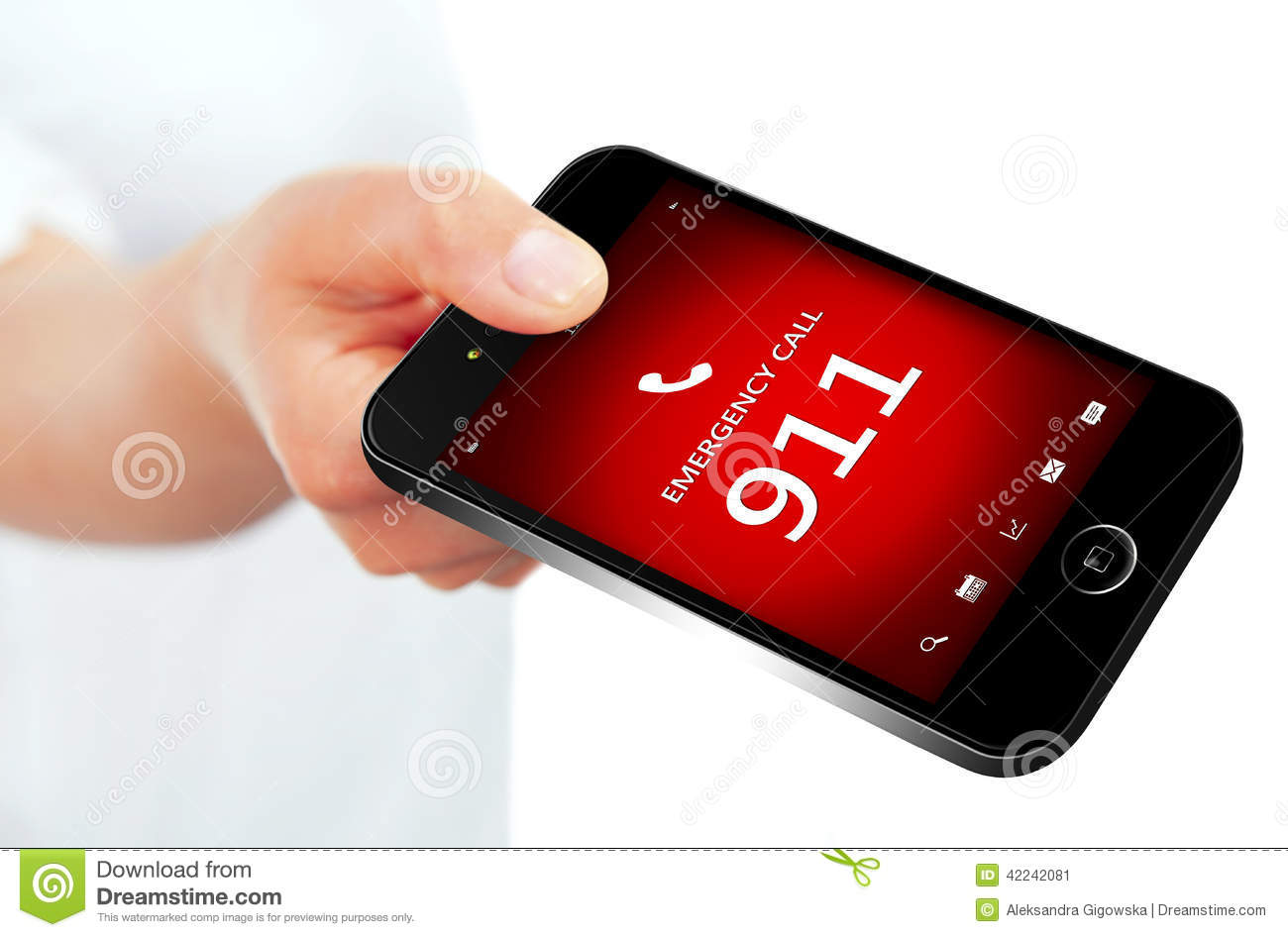 911 Phone Stock Photography