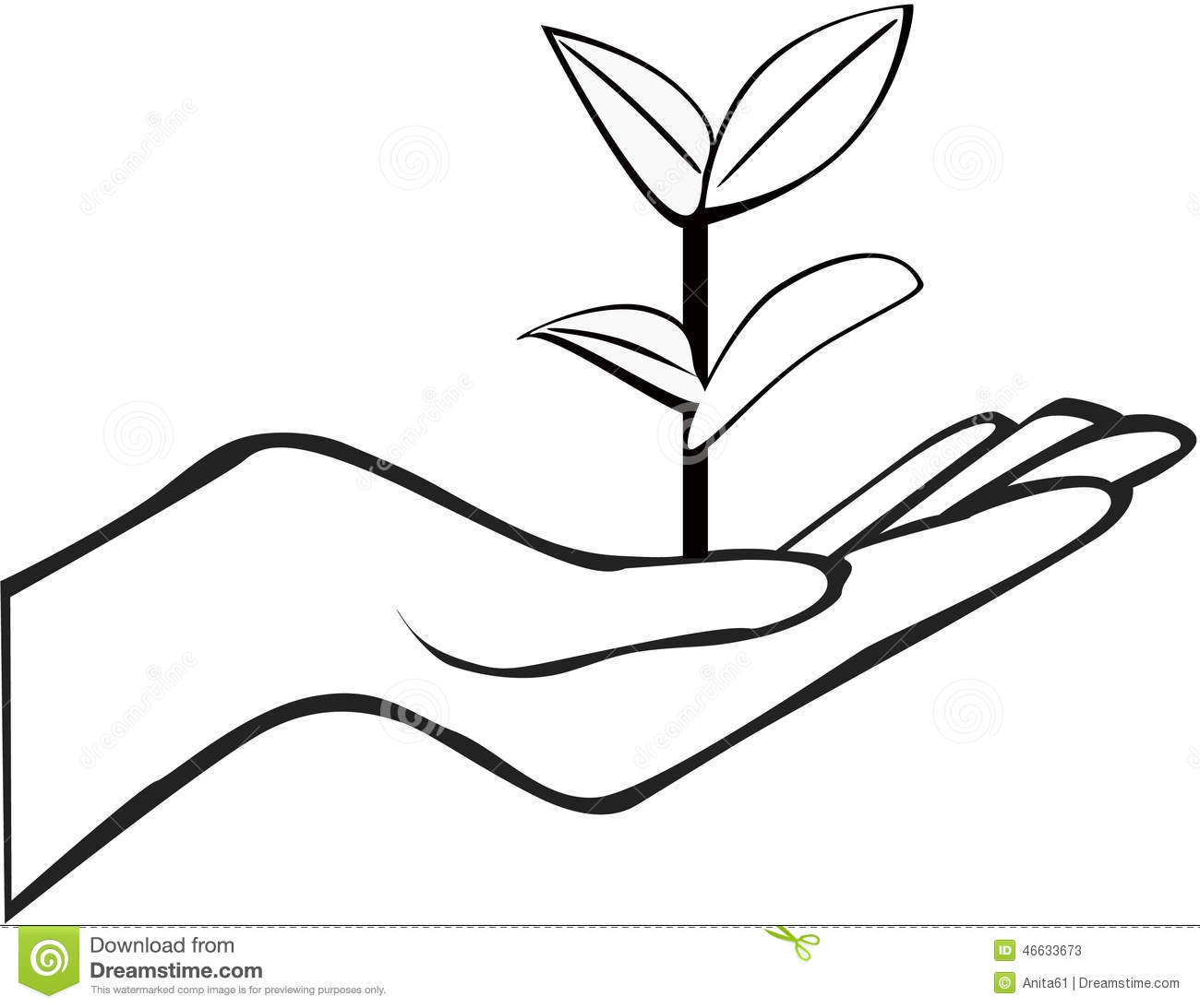 Hand Holding Plant Stock Vector Illustration Of Ecology