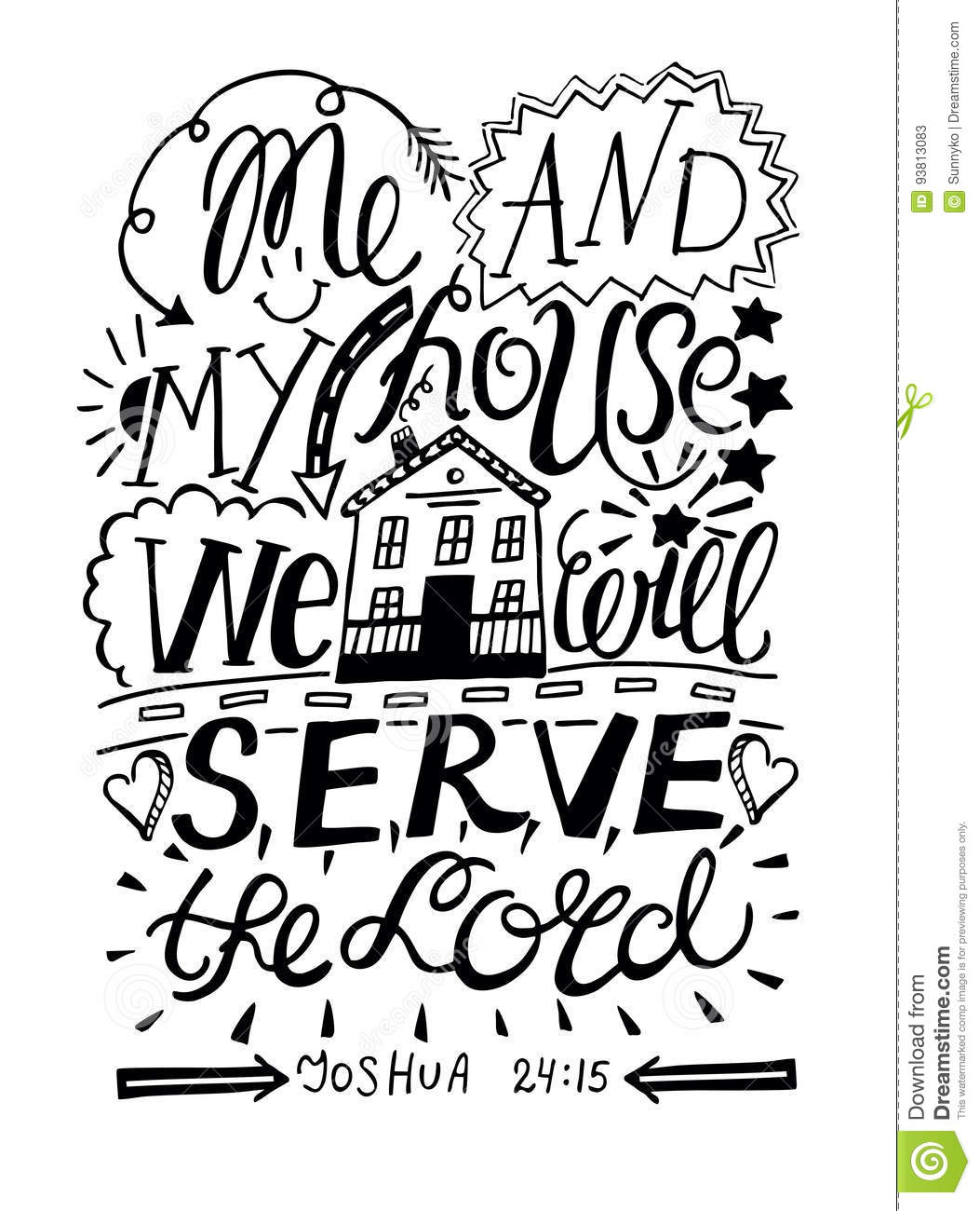 Faerlmarie Coloring Pages: 32 As For Me And My House We