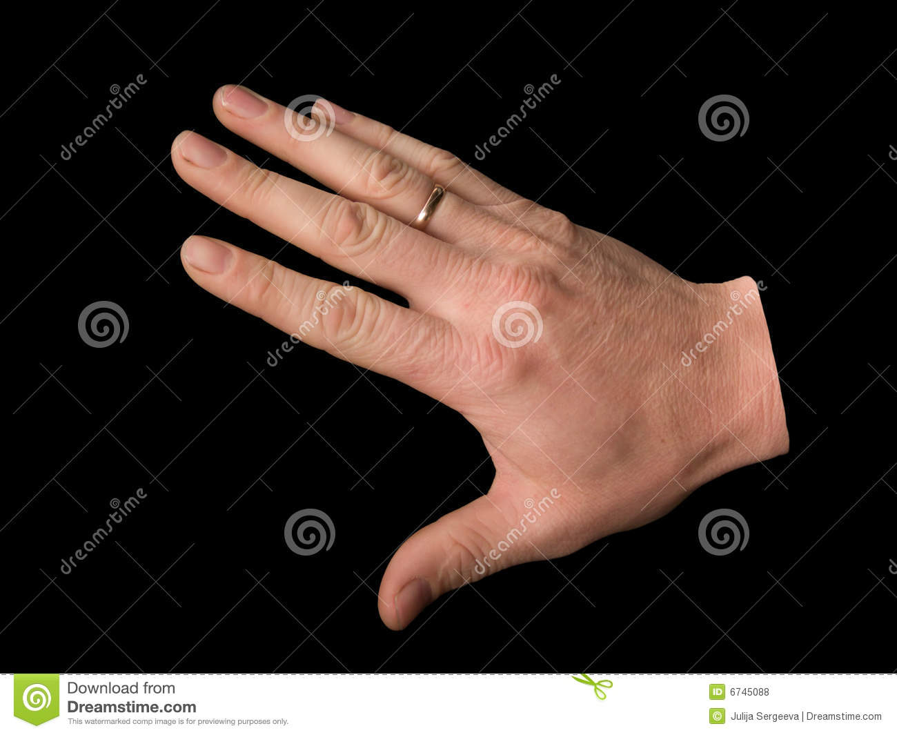 Hand Man's On A Black Background Stock Photo - Image: 6745088