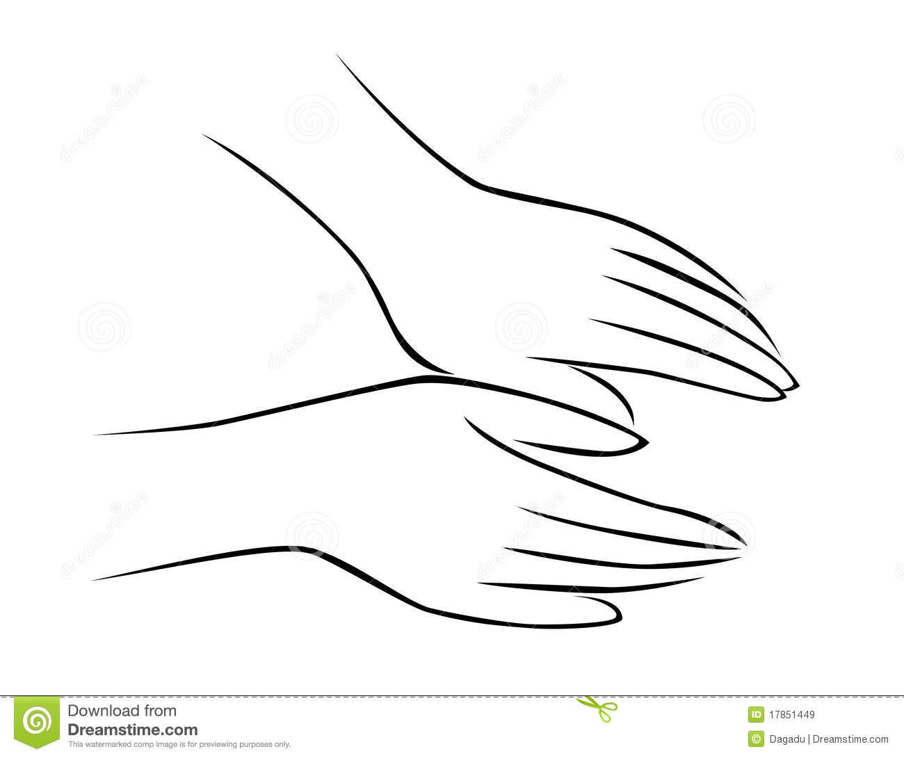 Hand Massage Stock Vector Illustration Of Pressure Back