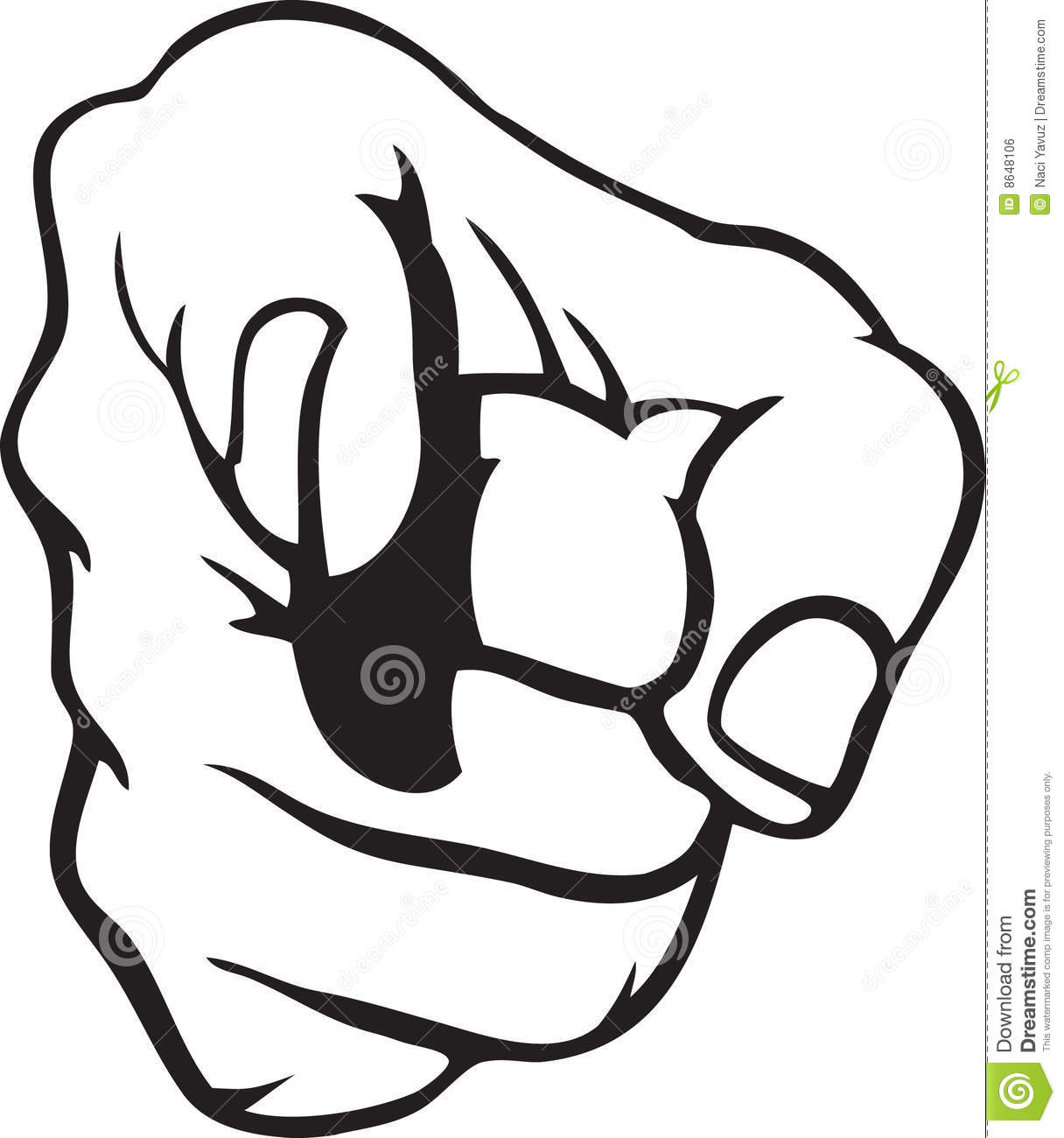 Hand Pointing Stock Vector Illustration Of Fight