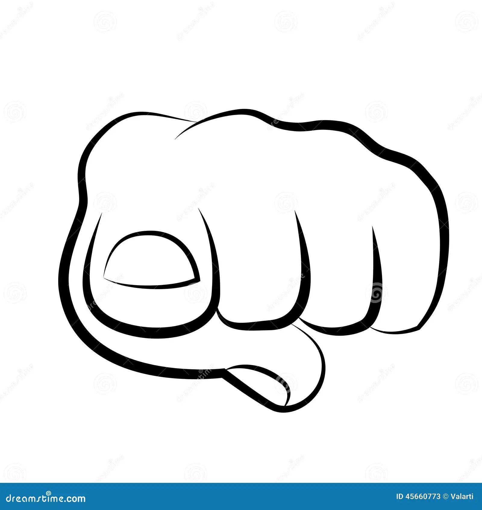 Hand Pointing At Viewer Cartoon Vector