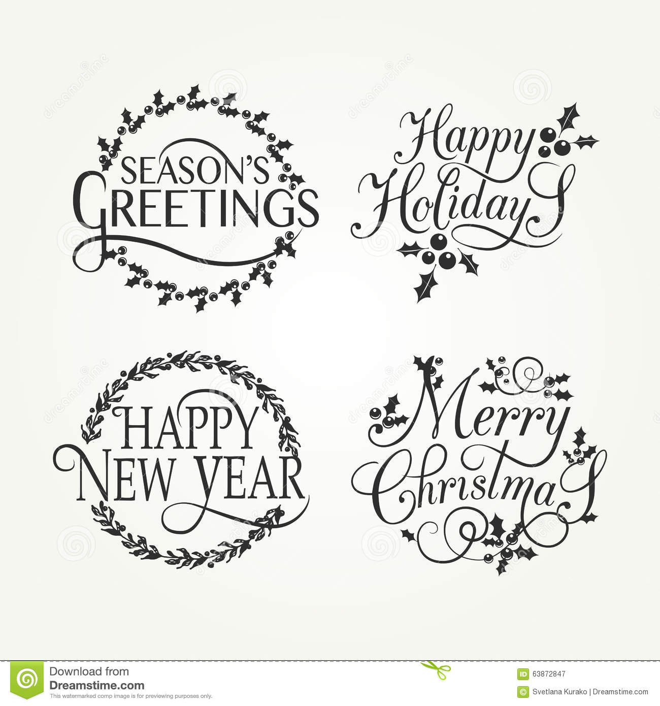 Merry Christmas Lettering Style